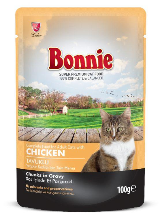 BONNIE POUCH ADULT CAT FOOD CHICKEN