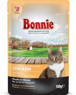 BONNIE POUCH ADULT CAT FOOD CHICKEN