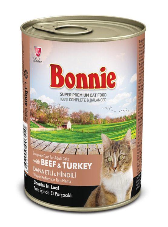 Bonnie Beef & Turkey adult cat food