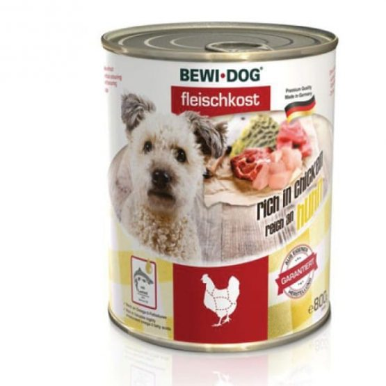 Bewi Dog rich in chicken canned dog wet food
