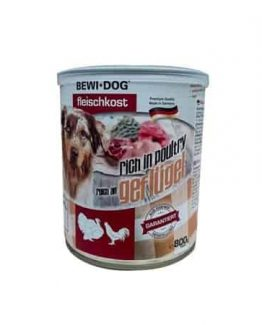 Bewi Dog Canned Wet Dog Food Rich in Poultry