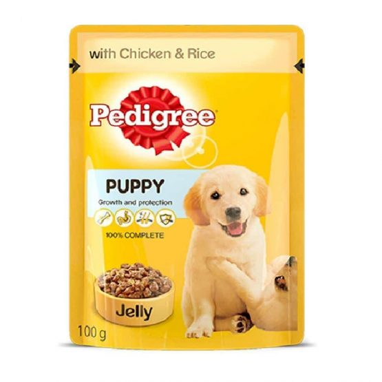 pedigree puppy pouch chicken and rice in jelly 2